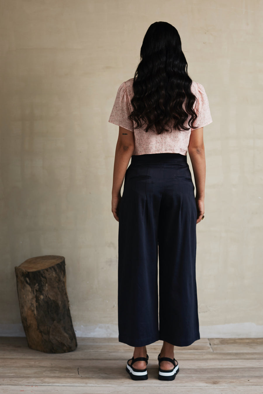 Plain and Simple Pleated Pants - Ethical made fashion - onlyethikal