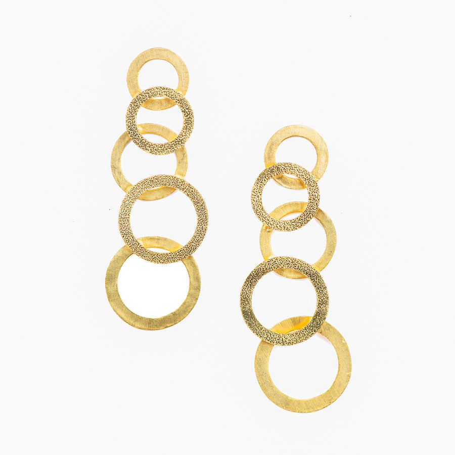 Dangling Circle Earrings - Ethical made fashion - onlyethikal