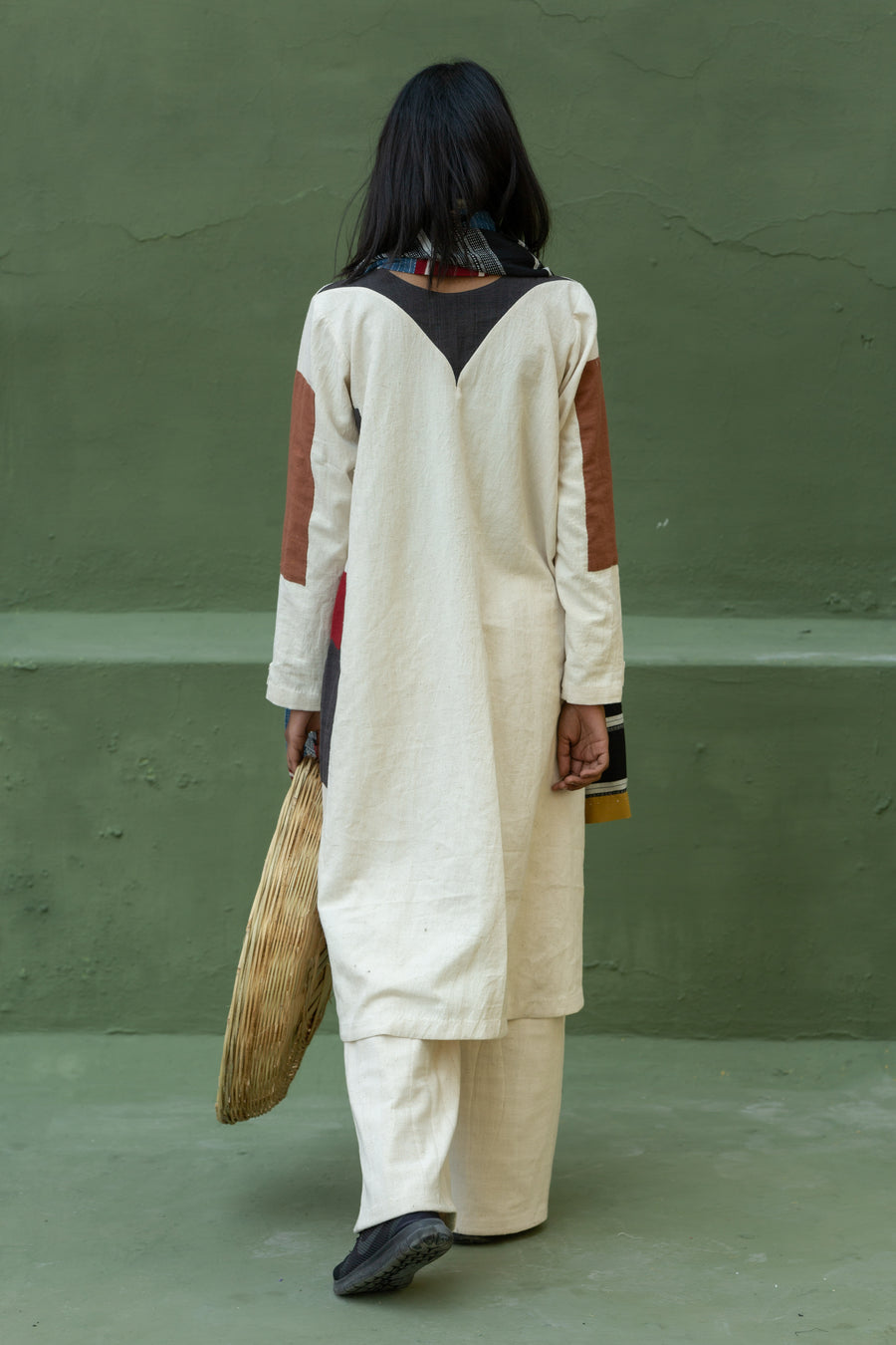 Tribal patch-work tunic in Organic Cotton - Ethical made fashion - onlyethikal