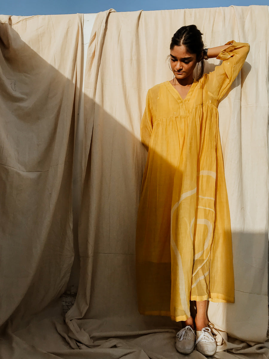 Sunny yellow arazi dress - onlyethikal