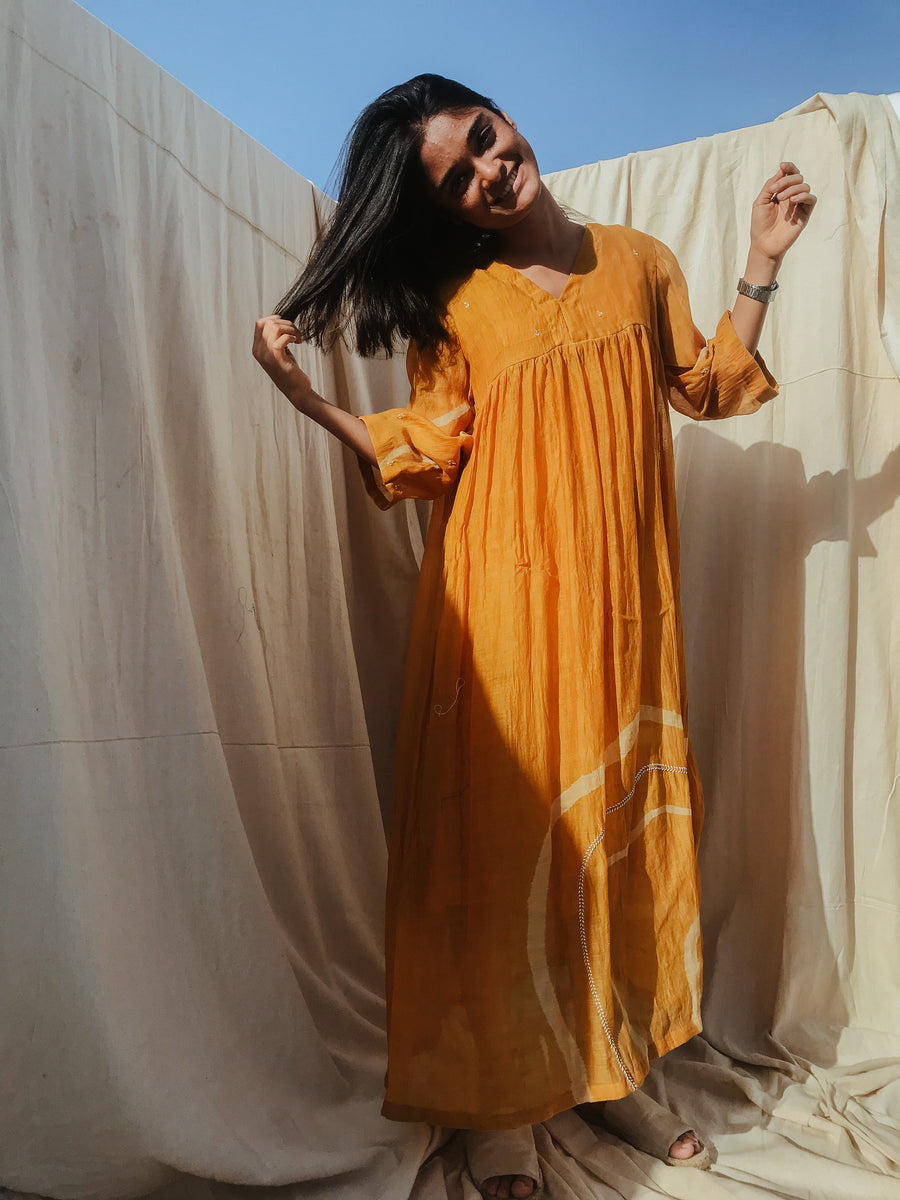 Mustard Yellow Arazi Dress - Ethical made fashion - onlyethikal
