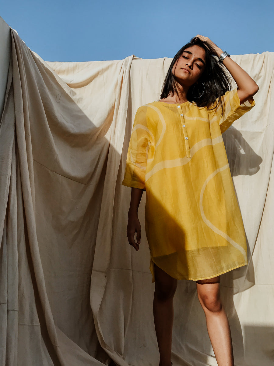 Sunny Yellow Yaz Dress - Ethical made fashion - onlyethikal
