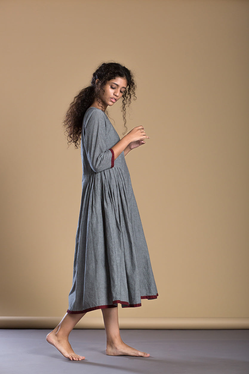 Grey A-Line dress - Ethical made fashion - onlyethikal