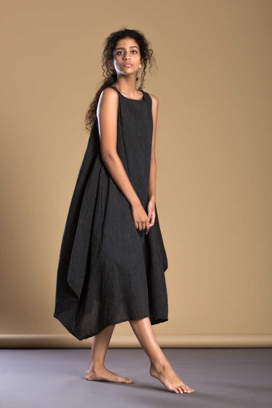 Black Side Cowl Dress - onlyethikal