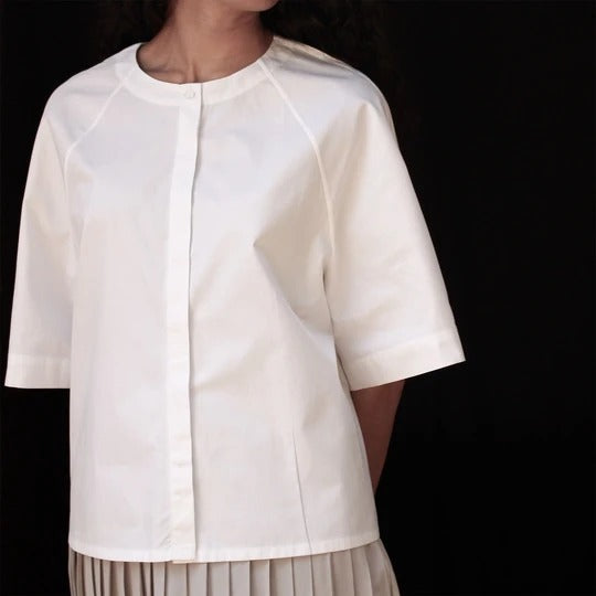 Marie Blanc Boxy Top - Ethical made fashion - onlyethikal