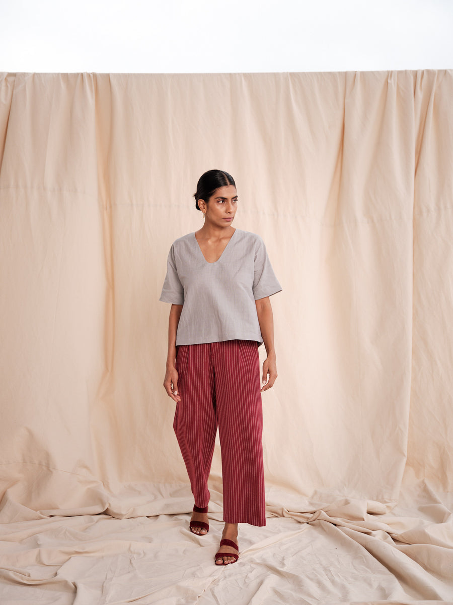 Mechi handwoven linen top - Ethical made fashion - onlyethikal