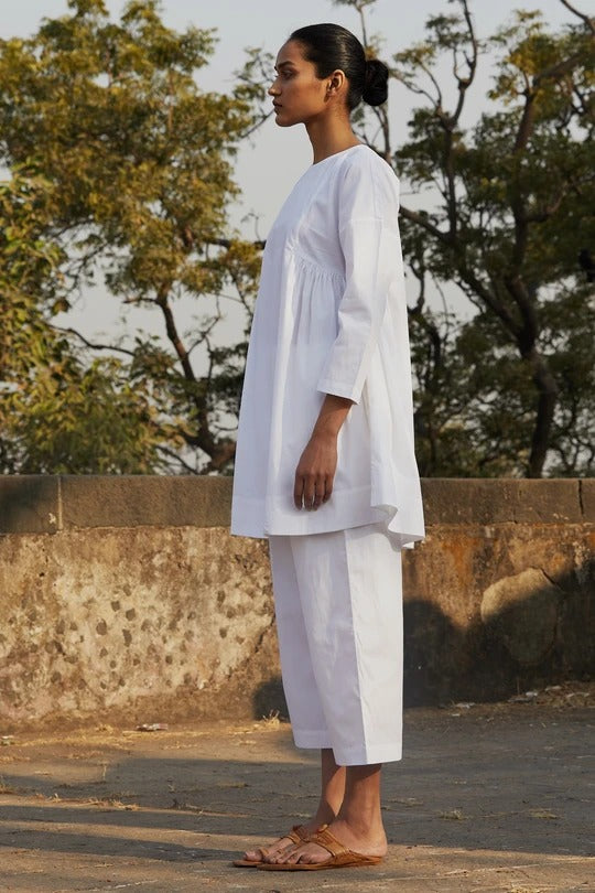 Natsu White Tunic & Pants Set - Ethical made fashion - onlyethikal