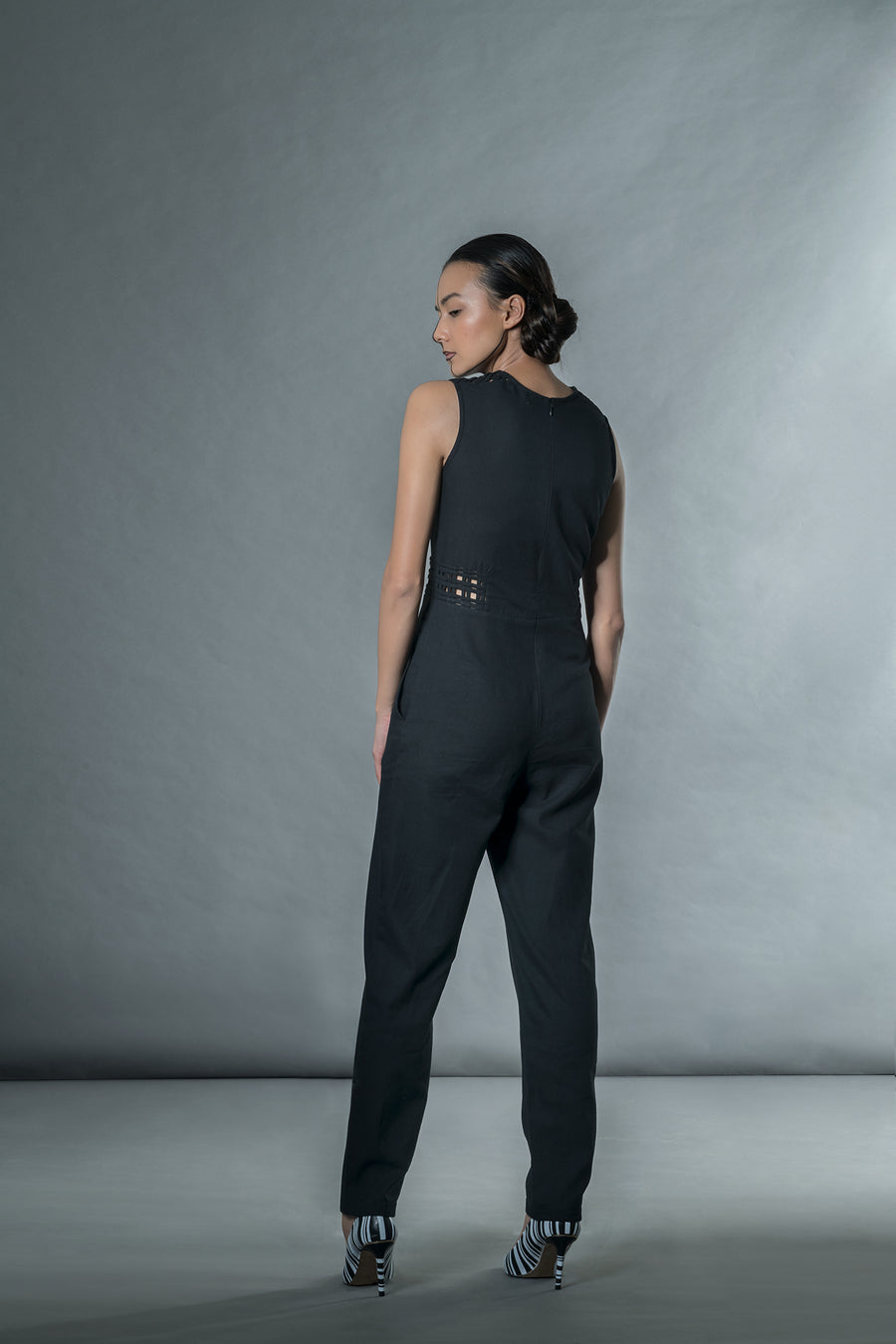 Black jumpsuit with matting - onlyethikal