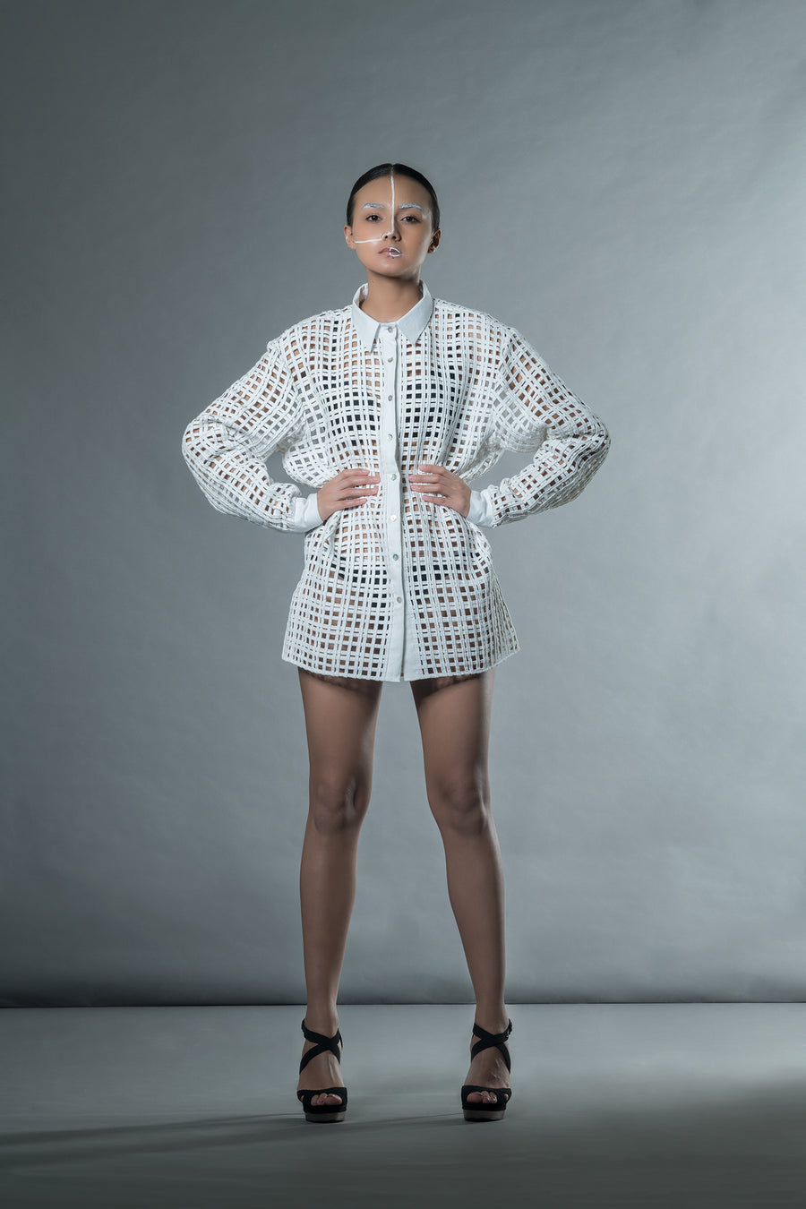 White Mat Shirt - Ethical made fashion - onlyethikal
