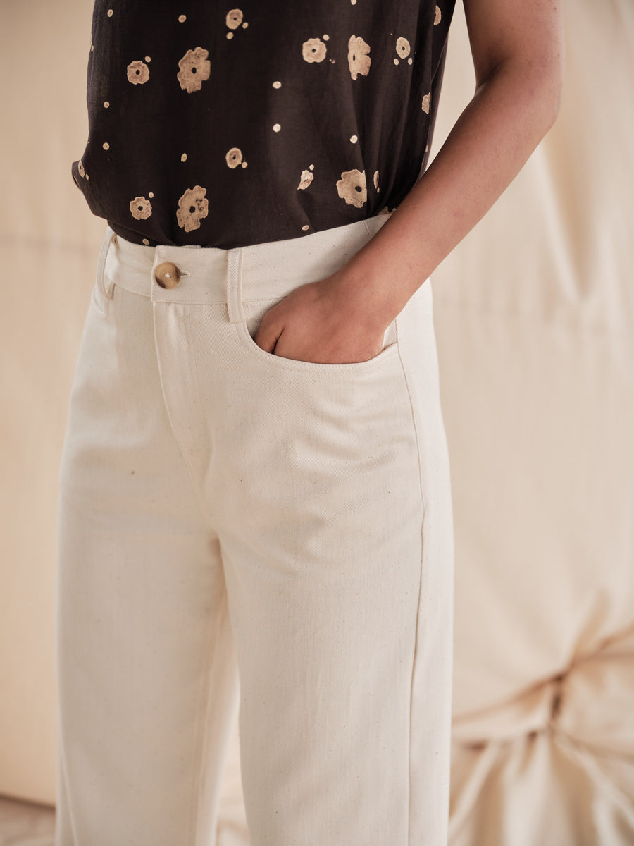 Pavlova creme pants - Ethical made fashion - onlyethikal