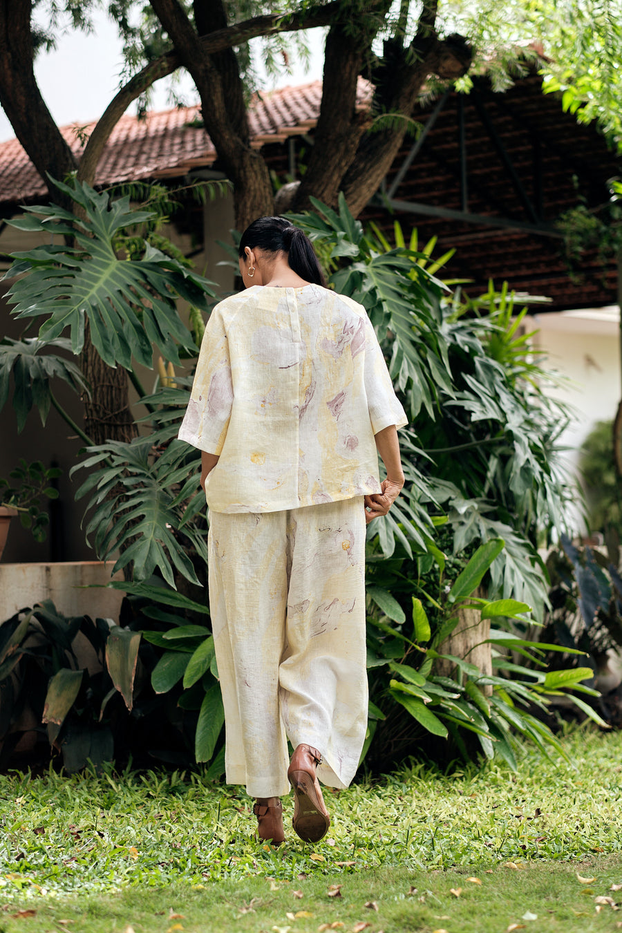 Roma Linen Top and Pants set - Ethical made fashion - onlyethikal