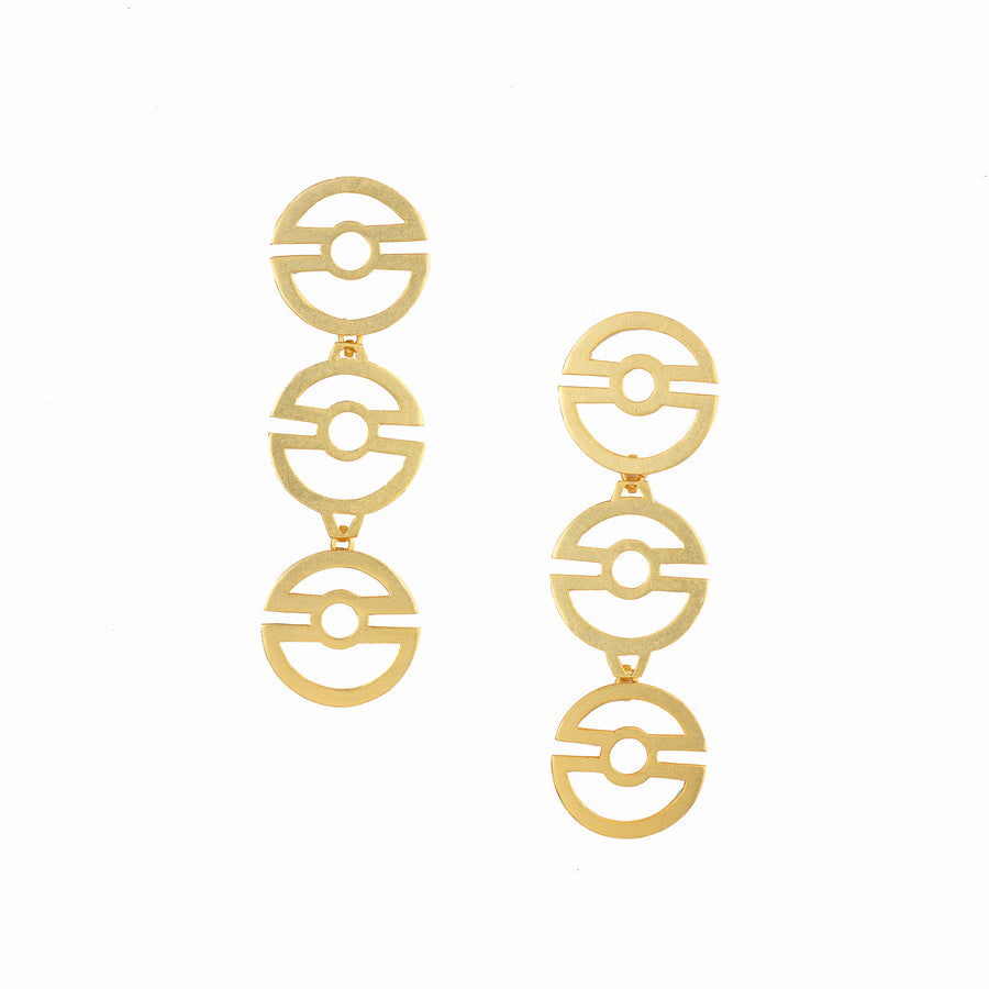 Three Circle Earrings - Ethical made fashion - onlyethikal