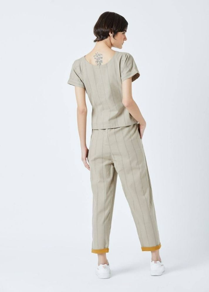 Fildes Beige Top and Pant set - Ethical made fashion - onlyethikal