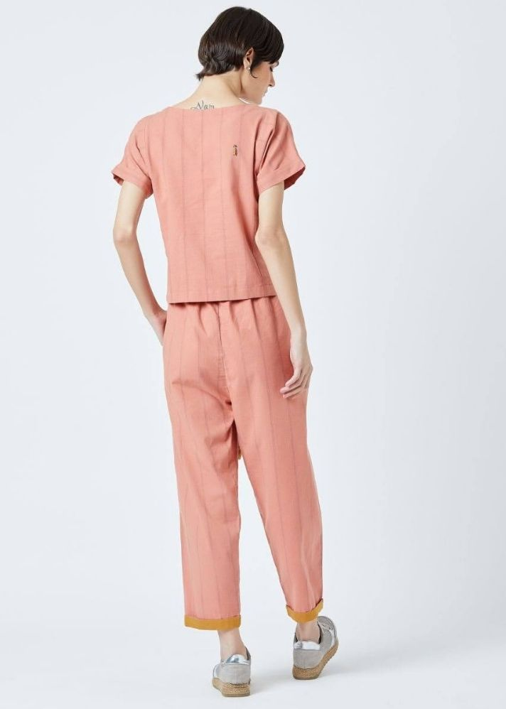 Fildes Orange Top and Pants set - Ethical made fashion - onlyethikal