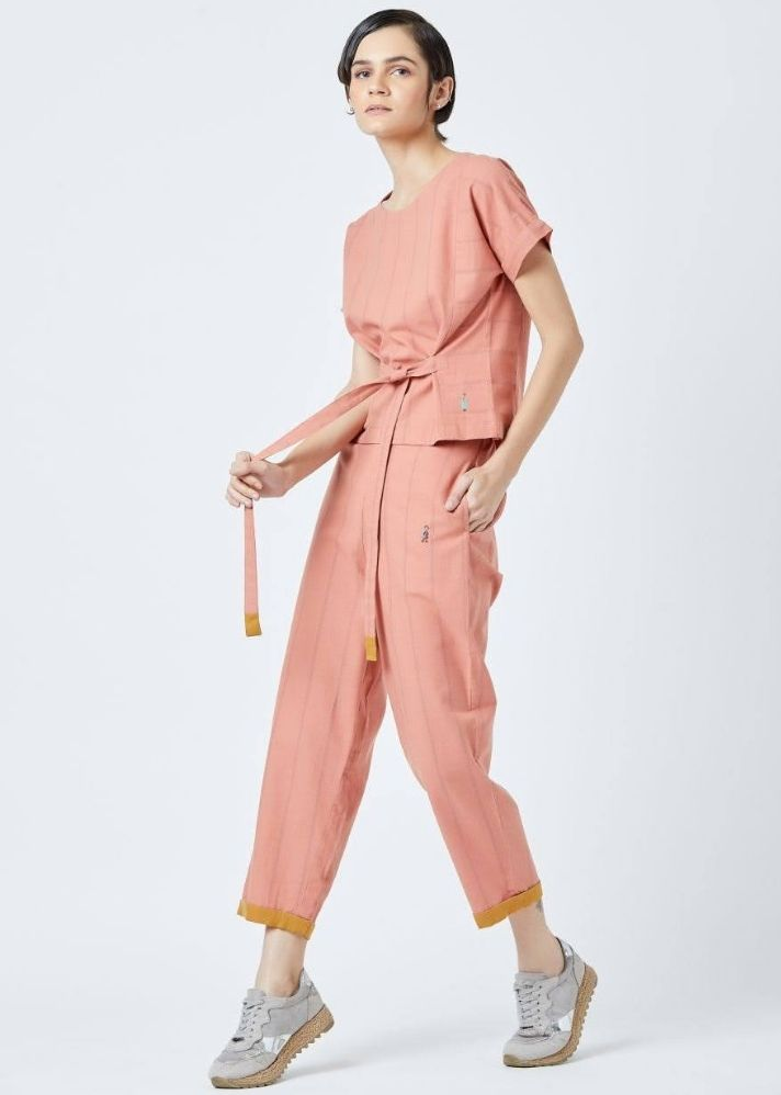 Fildes Orange Top and Pants set - onlyethikal