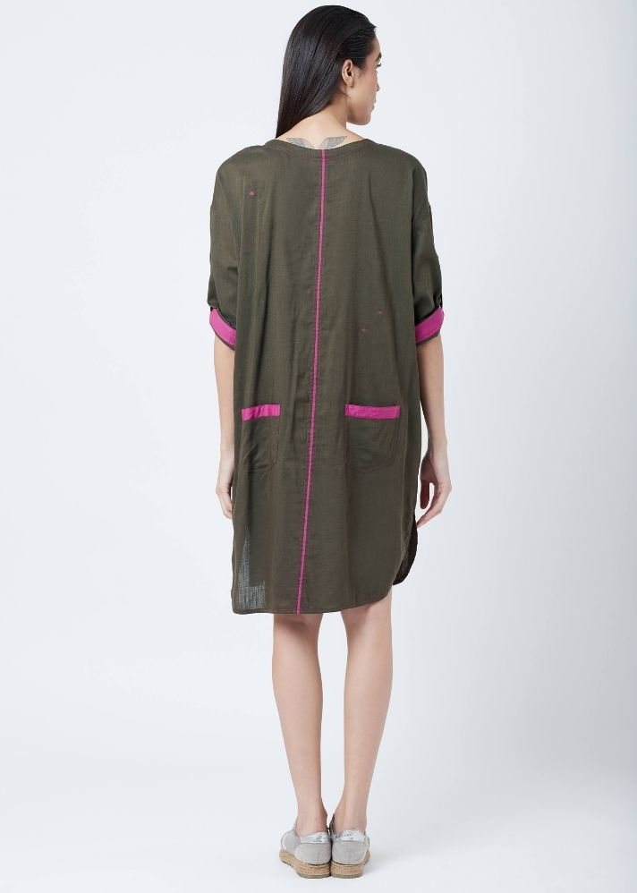 Amy Green Tunic - Ethical made fashion - onlyethikal