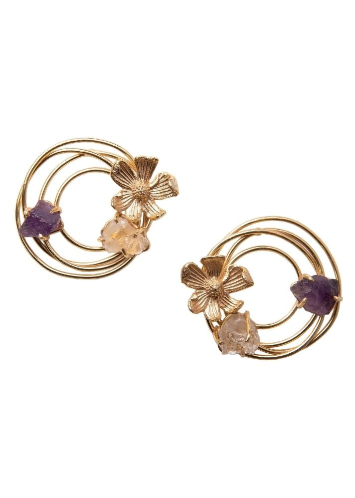 Circle of Flowers Studs - Ethical made fashion - onlyethikal