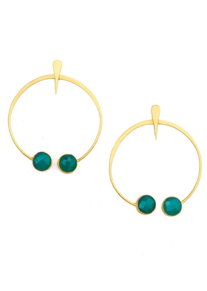 Aqua Circles Earrings - Ethical made fashion - onlyethikal