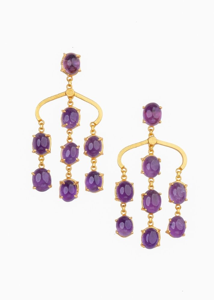 Violet Drops Earrings - Ethical made fashion - onlyethikal