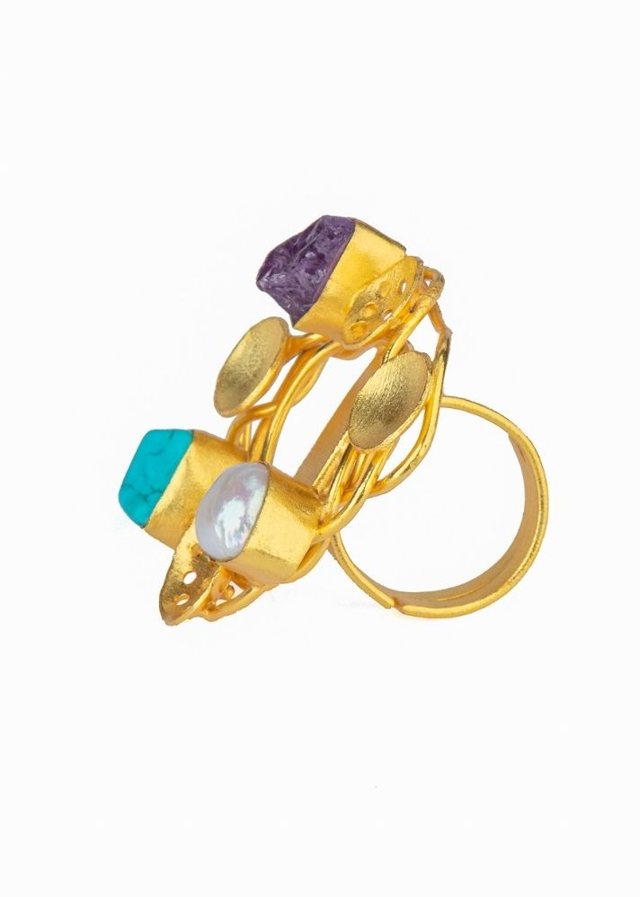 Queen Gold Ring - Ethical made fashion - onlyethikal