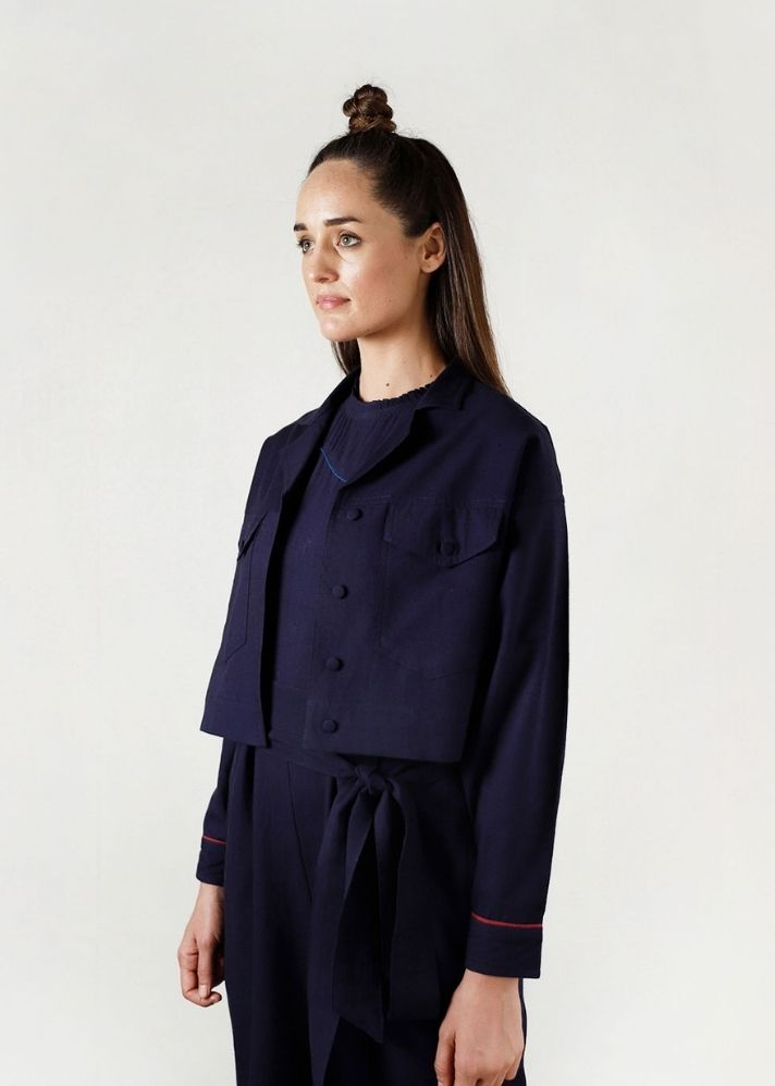 Fluid Moon Crop Jacket - Ethical made fashion - onlyethikal