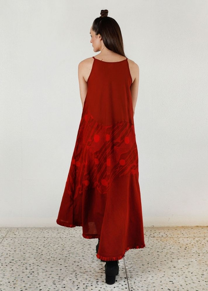Essential Cherry Red Maxi Dress - onlyethikal
