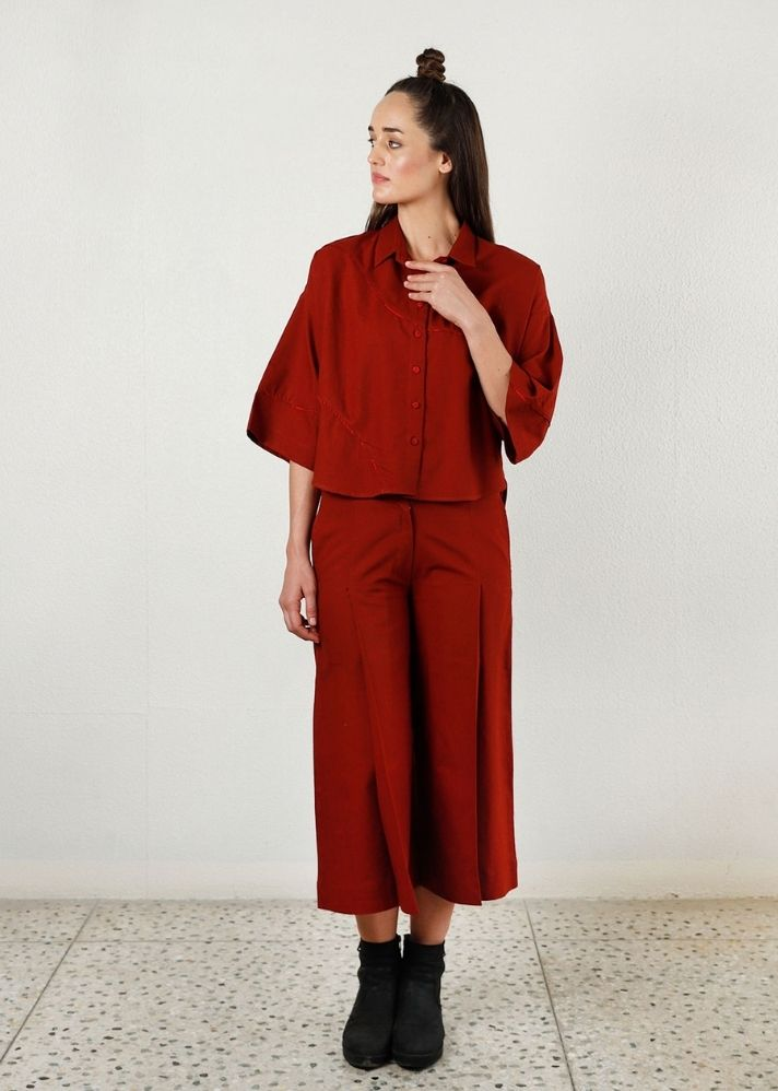 Wear Anywhere Cherry Red Co-Ord 2 piece set - Ethical made fashion - onlyethikal