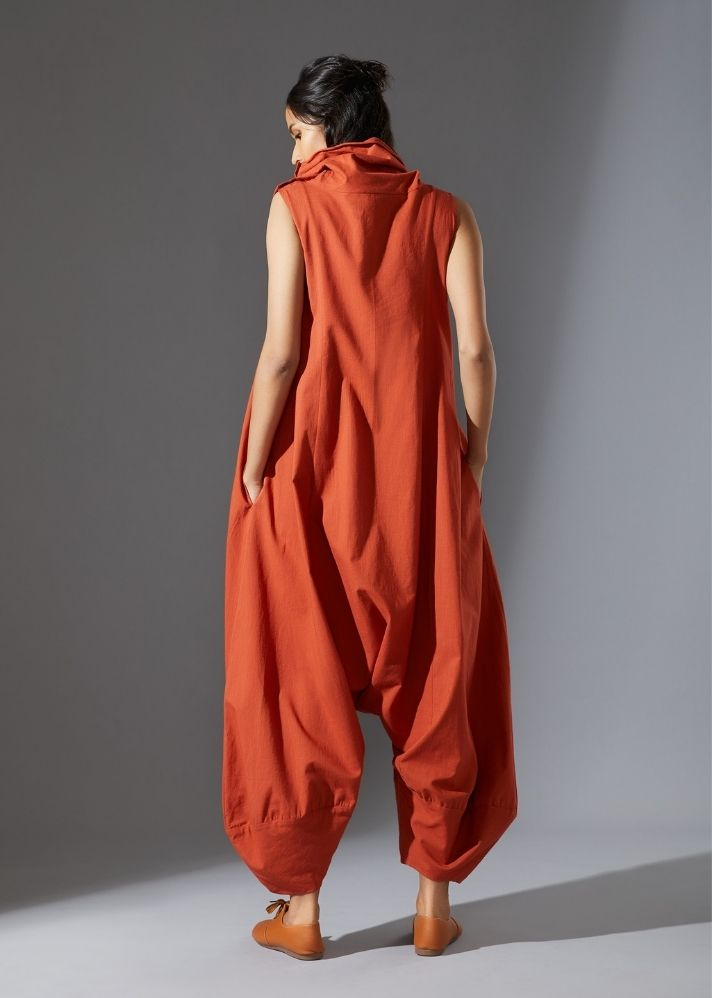 Suga Jumpsuit -  Rust - Ethical made fashion - onlyethikal