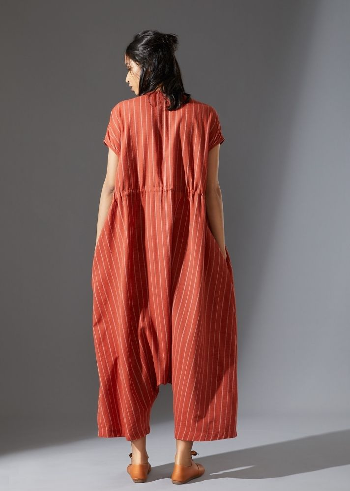 Safari Jumpsuit - Rust - Ethical made fashion - onlyethikal