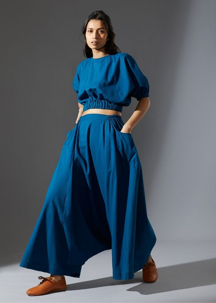 Sphara Top -  Blue - Ethical made fashion - onlyethikal