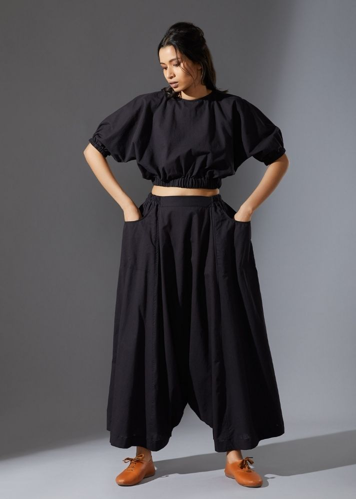 New Harem Pant-  Black - Ethical made fashion - onlyethikal