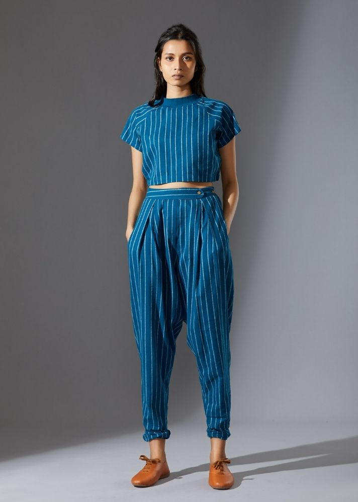 Cotton Aboli Pants-  Blue - onlyethikal