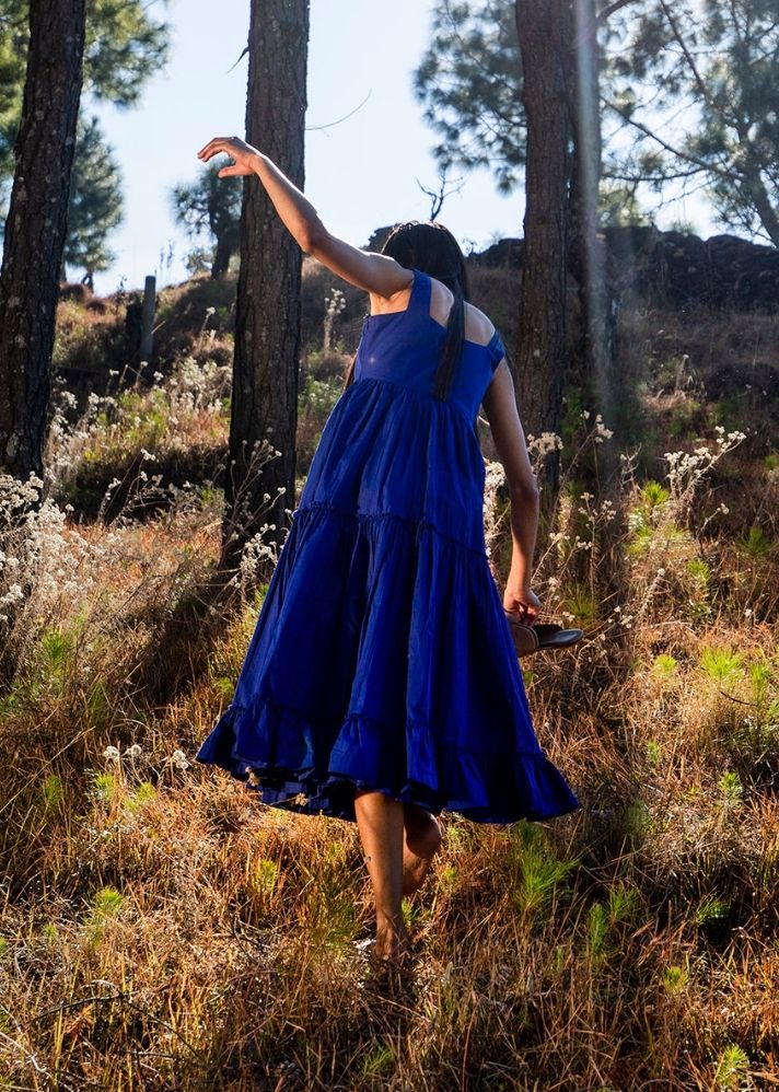 Falling Skies- Electric Blue - Ethical made fashion - onlyethikal