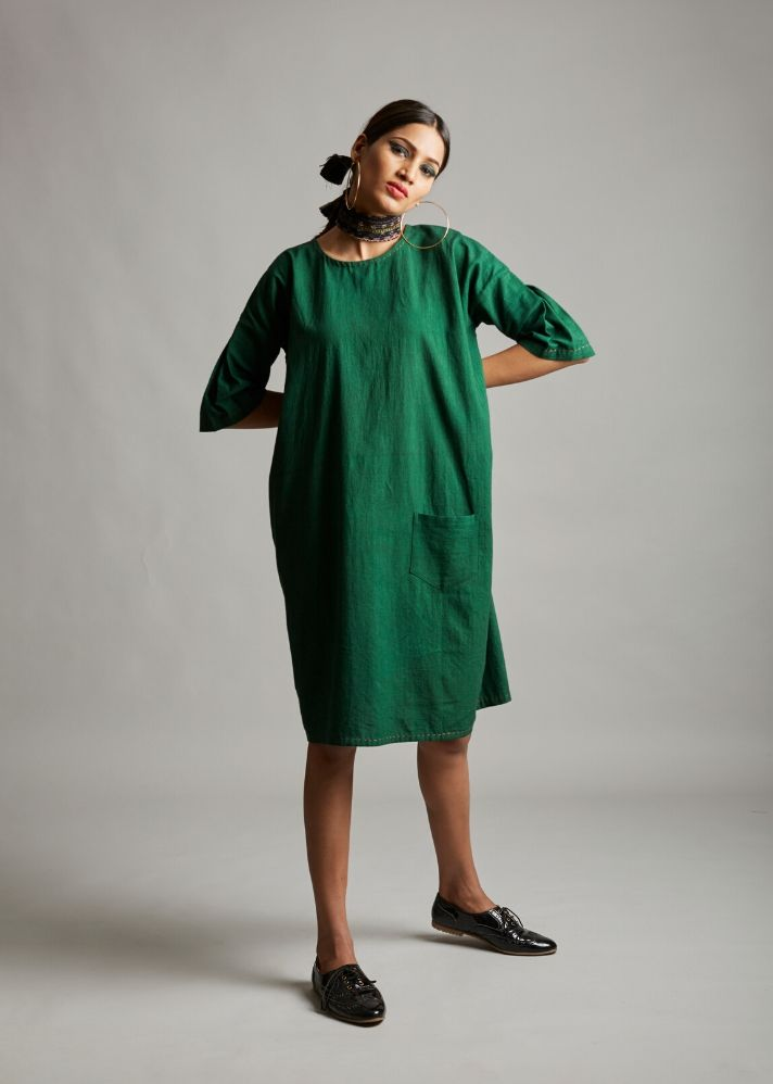 Organic cotton pocket dress - onlyethikal