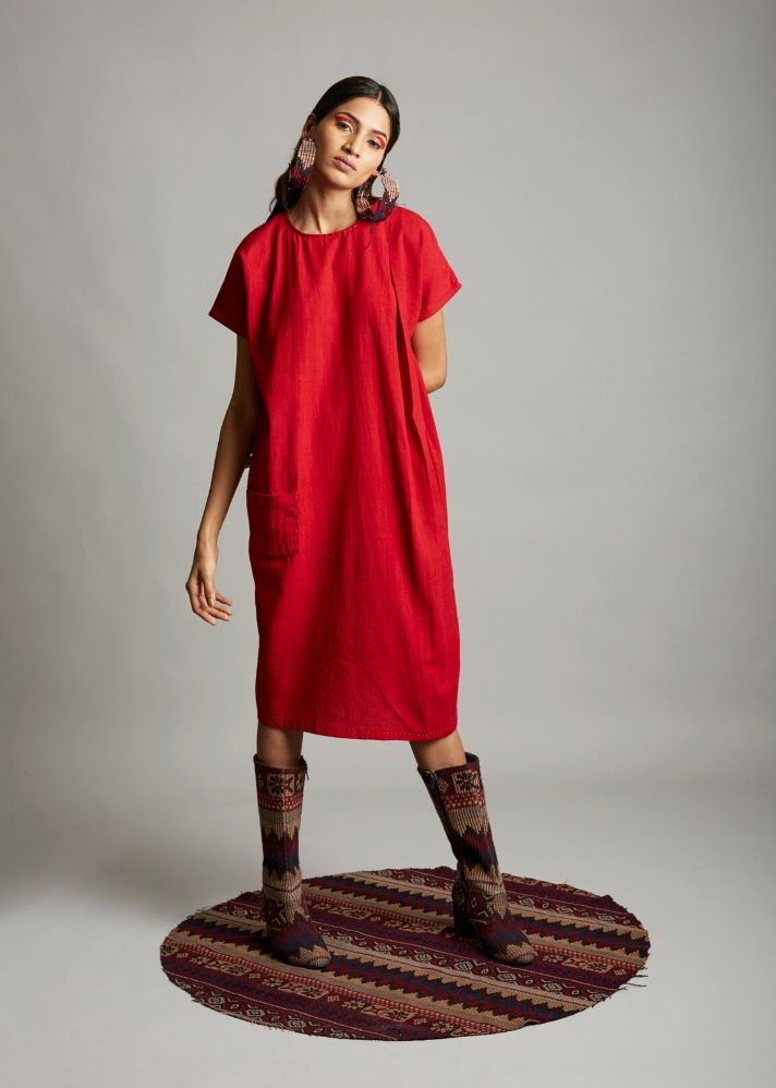 Organic cotton straight cut dress - Ethical made fashion - onlyethikal