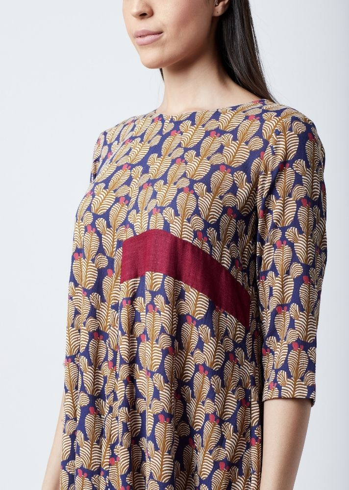 Printed Flared Dress - Ethical made fashion - onlyethikal