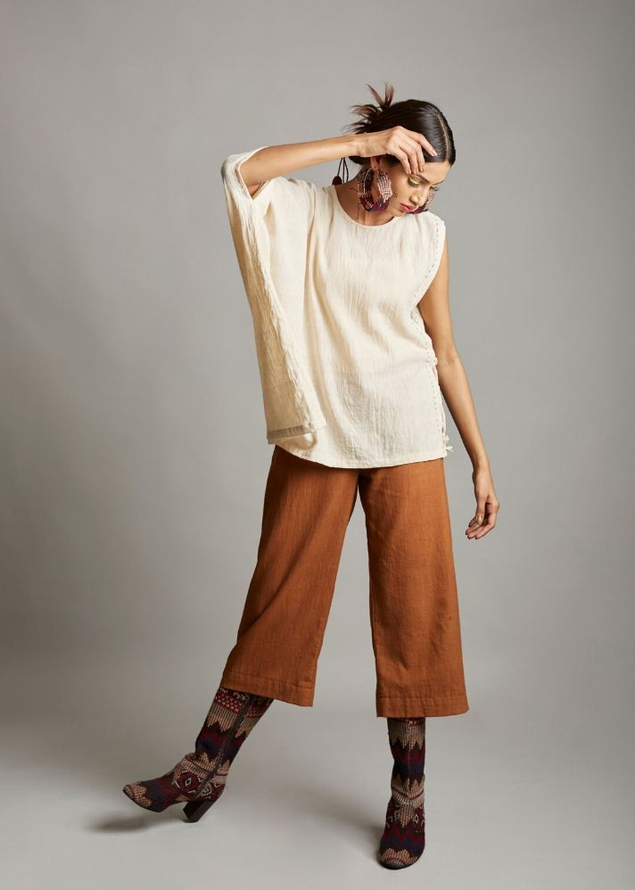 Organic cotton asymmetrical top - Ethical made fashion - onlyethikal