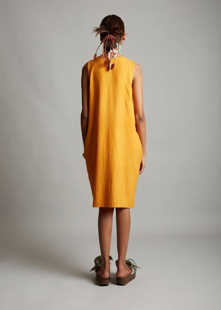Organic cotton balloon dress - Ethical made fashion - onlyethikal