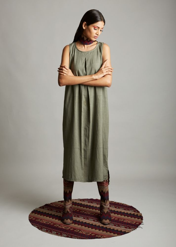 Organic cotton loose fitted dress - Ethical made fashion - onlyethikal