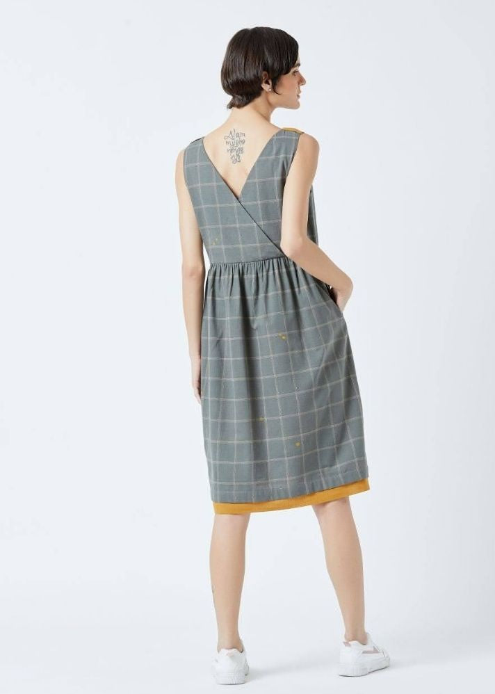 Angela Check Dress - Ethical made fashion - onlyethikal