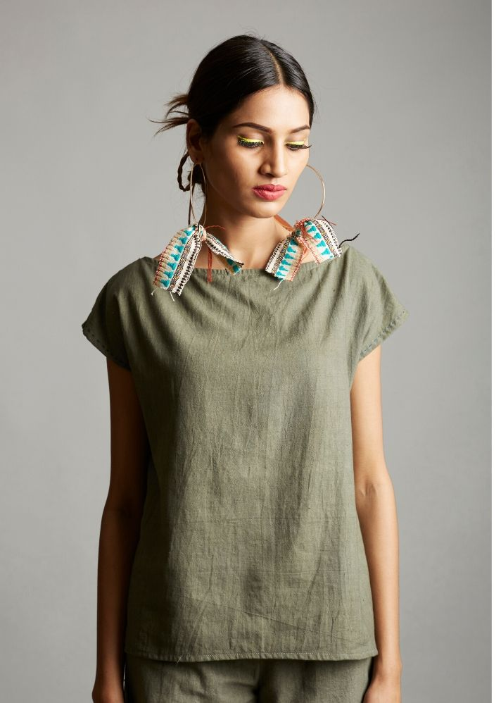 Organic Cotton Minimalist Top - Ethical made fashion - onlyethikal