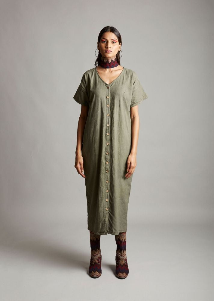 Organic Cotton Half Sleeves Dress - Ethical made fashion - onlyethikal