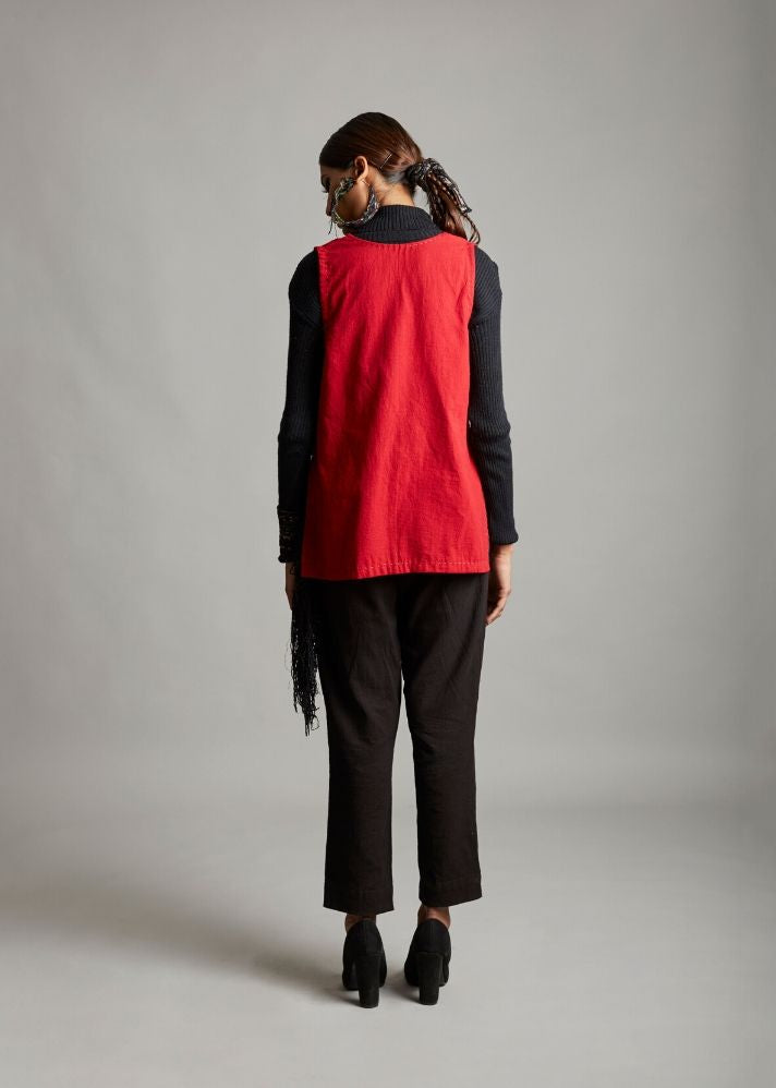 Short sleeves gilet - Ethical made fashion - onlyethikal