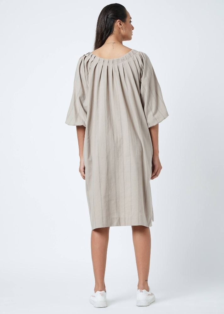 Kelly Beige Dress - Ethical made fashion - onlyethikal
