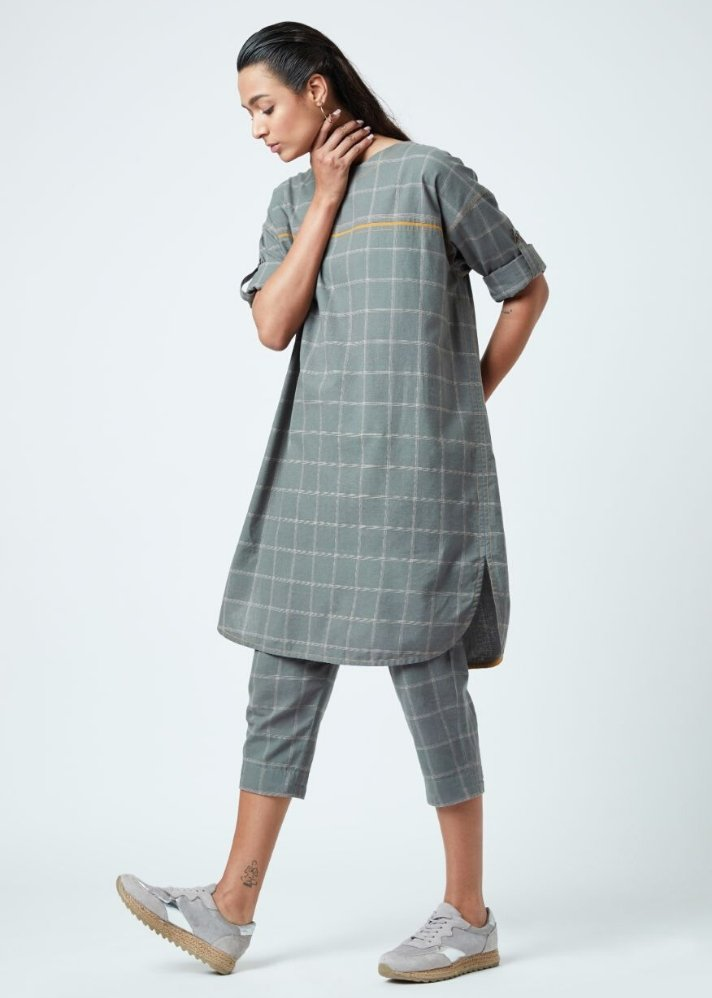 Amy Grey Tunic - Ethical made fashion - onlyethikal