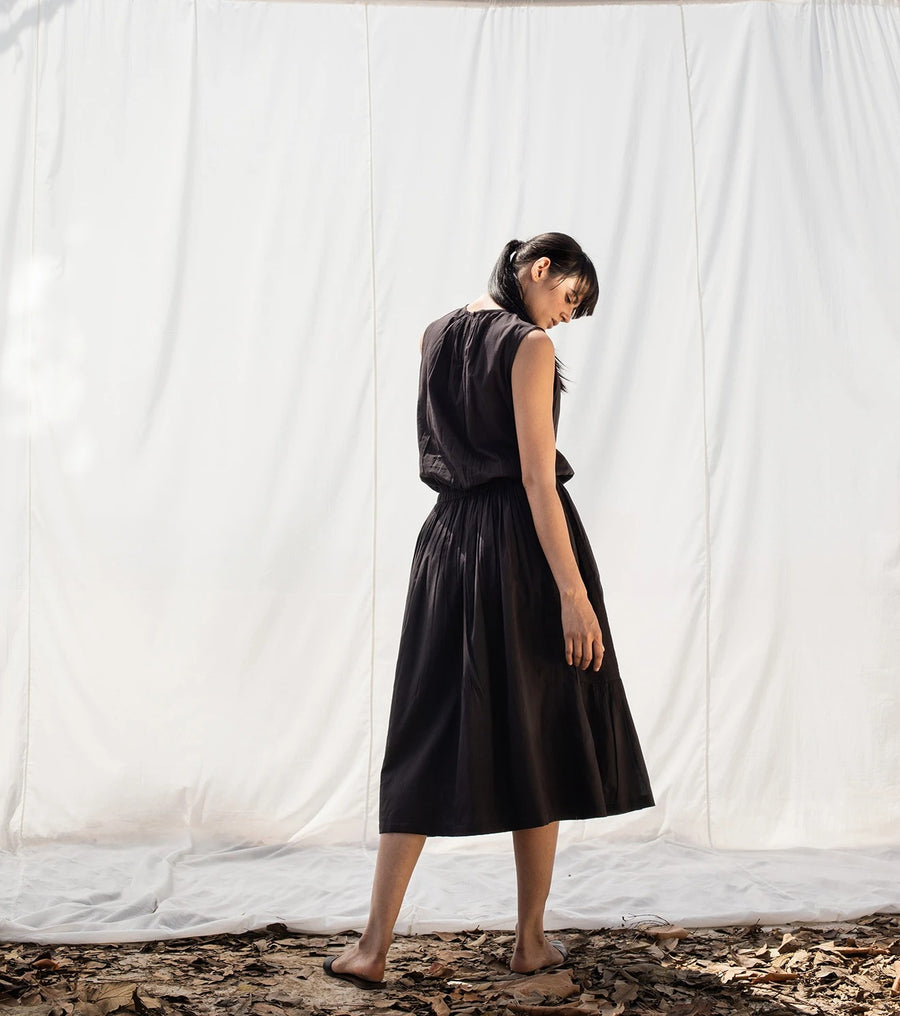 Auld Lang Syne Black Dress - Ethical made fashion - onlyethikal
