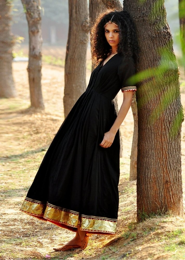Black Ornamental dress - onlyethikal