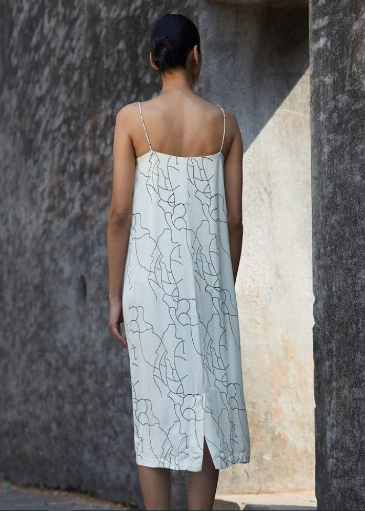 Block printed slip dress - Ethical made fashion - onlyethikal