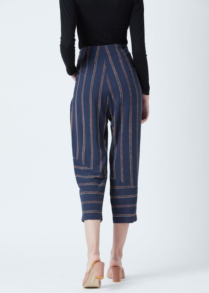 Blue stripe pants - Ethical made fashion - onlyethikal