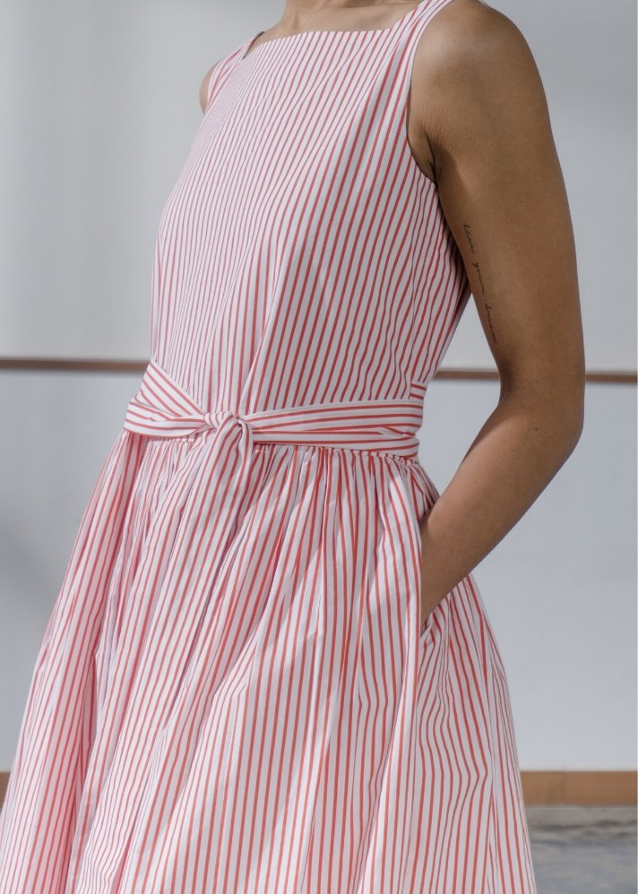 Candy Stripe cotton dress - Ethical made fashion - onlyethikal